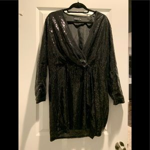Pretty Little Thing Black Sequin Dress